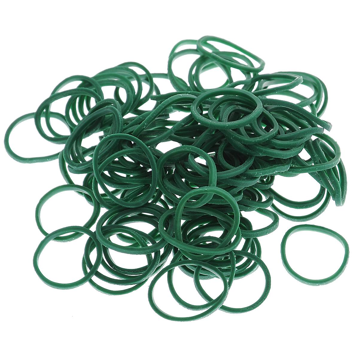 Резиночки безлатексные Rainbow Loom Solid Bands, с клипсами, цвет: темно-зеленый, 600 шт белоснежка резиночки для плетения цвет светло зеленый 1000 шт