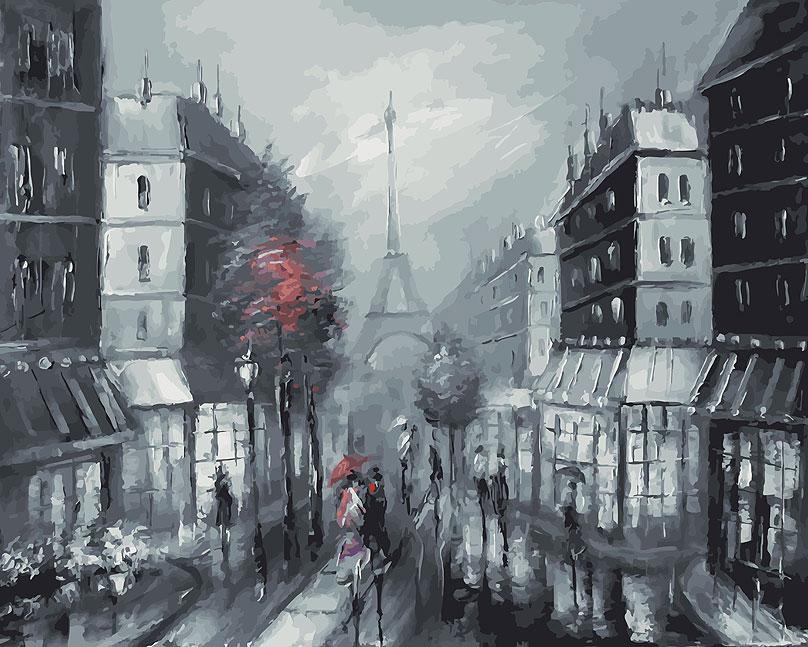 "Живопись на цветном холсте ""Париж"", 40 х 50 см"