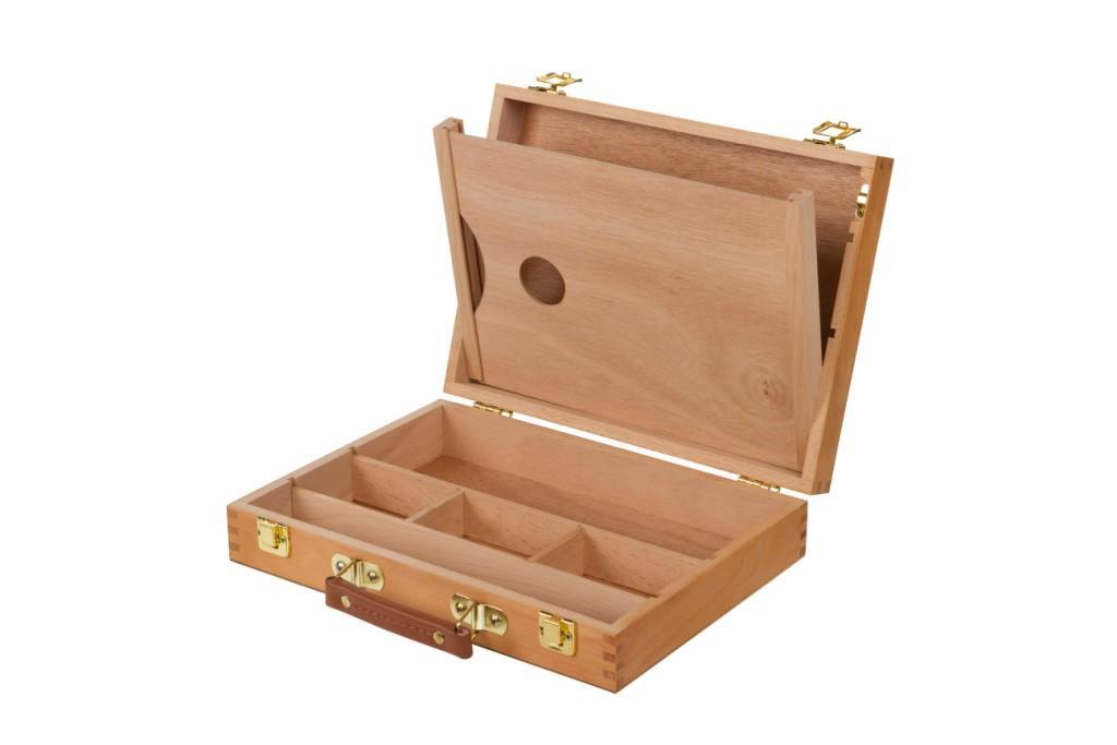 Pinax Этюдный ящик с ячейками и пеналом для кистей и красок