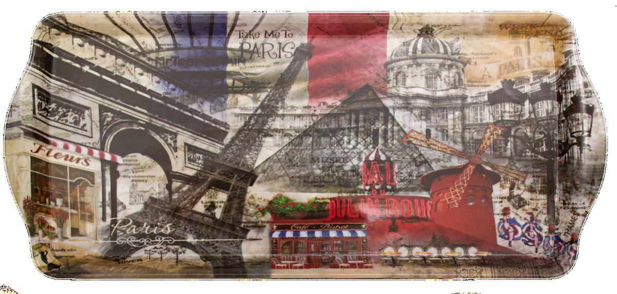 Поднос сервировочный GiftLand Take Me to Paris, 16,5 x 38 см поднос weltime 29 38 см