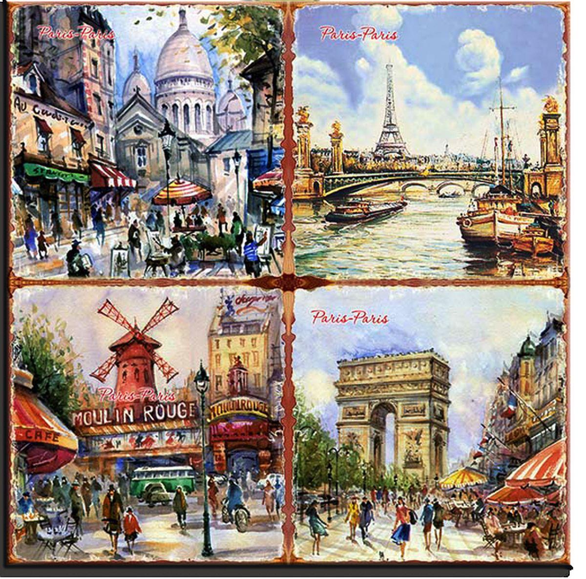 "Подставка под горячее Gift'n'Home ""Париж-Париж"", 20 х 20 см"