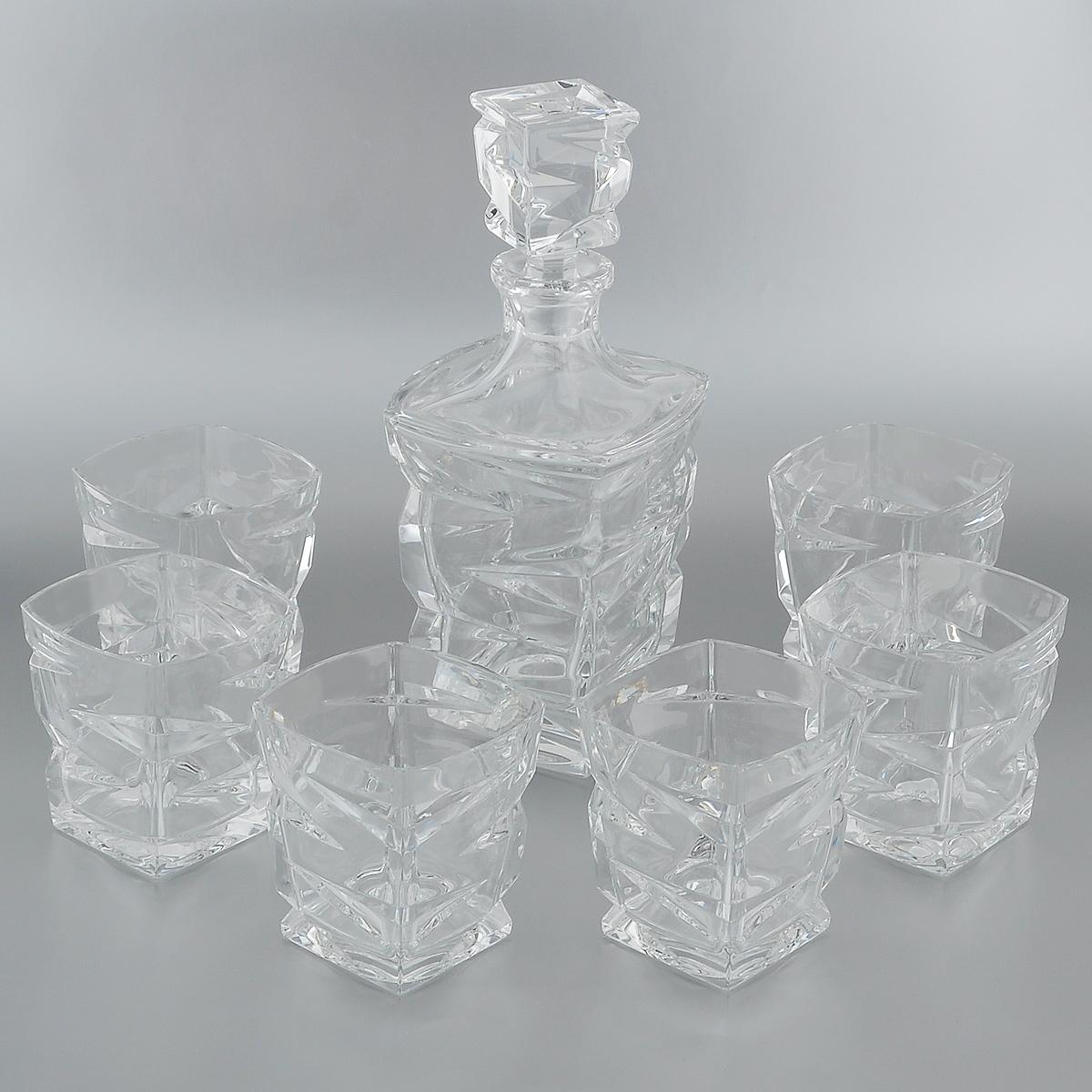 Набор для виски Crystal Bohemia, 7 предметов. 990/99999/9/59418/688-709 набор для виски 7 предметов crystalite bohemia набор для виски 7 предметов