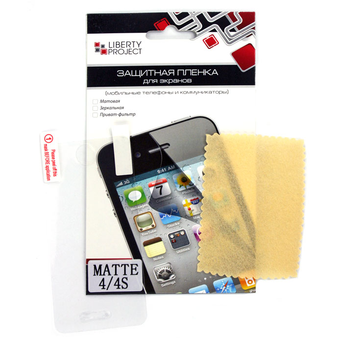 Liberty Project защитная пленка дляiPhone 4/4S, матовая цена и фото