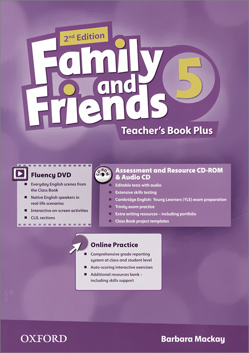Family and Friends: Level 5: Teacher's Book Plus with Online Practice (+ DVD, CD-ROM, CD) oxford phonics world 1 the alphabet cd rom