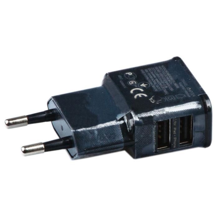 Liberty Project зарядное устройство на 2 USB выхода 2А, Black (форма Samsung) устройство зарядное сетевое rexant 18 1187