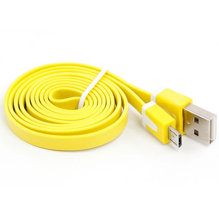 Liberty Project Micro-USB дата-кабель плоский узкий, Yellow аксессуар liberty project usb micro usb 1m blue yellow 0l 00001023