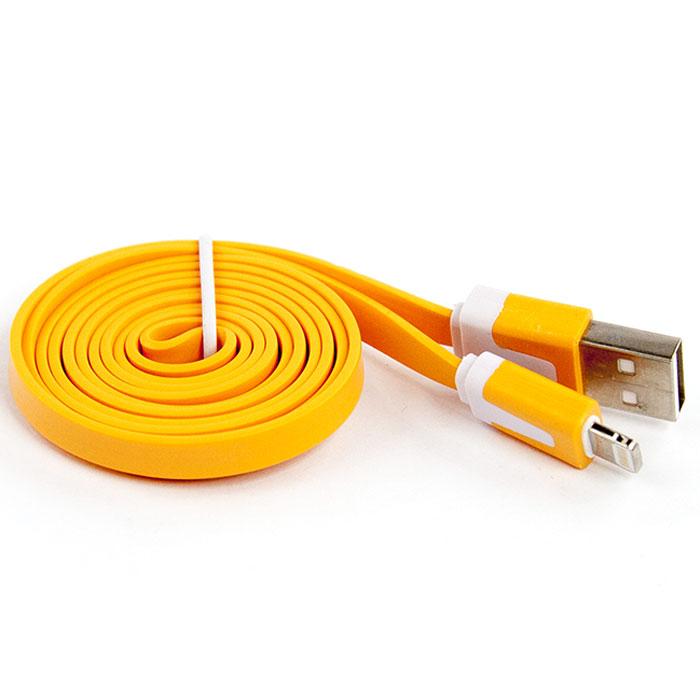 Liberty Project дата-кабель Apple Lightning плоский узкий, Orange (европакет) цена