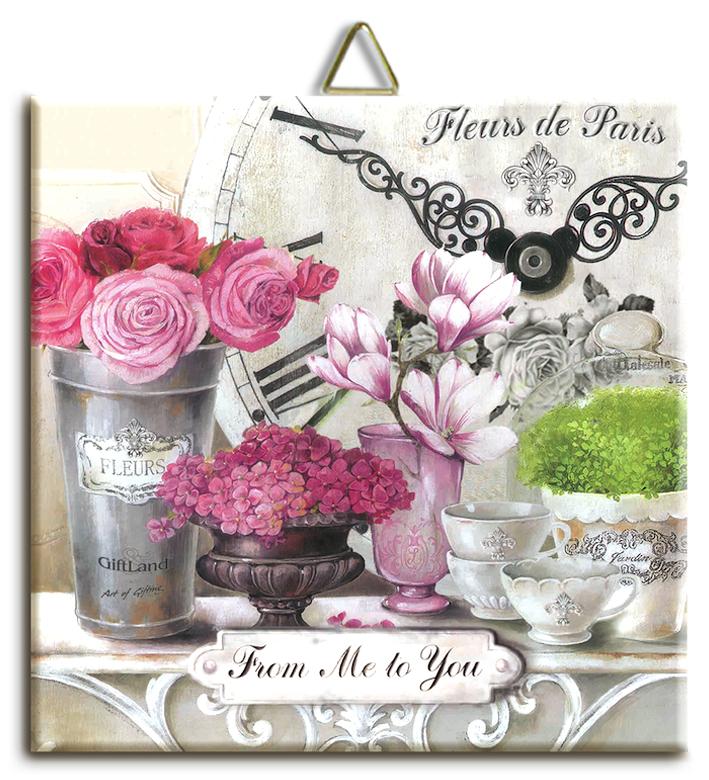 "Подставка под горячее Gift'n'Home ""Парижские цветы"", 16 х 16 см"