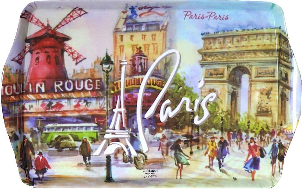 """Поднос сервировочный GiftLand """"Париж-Париж"""", 38,8 x 24 см"""