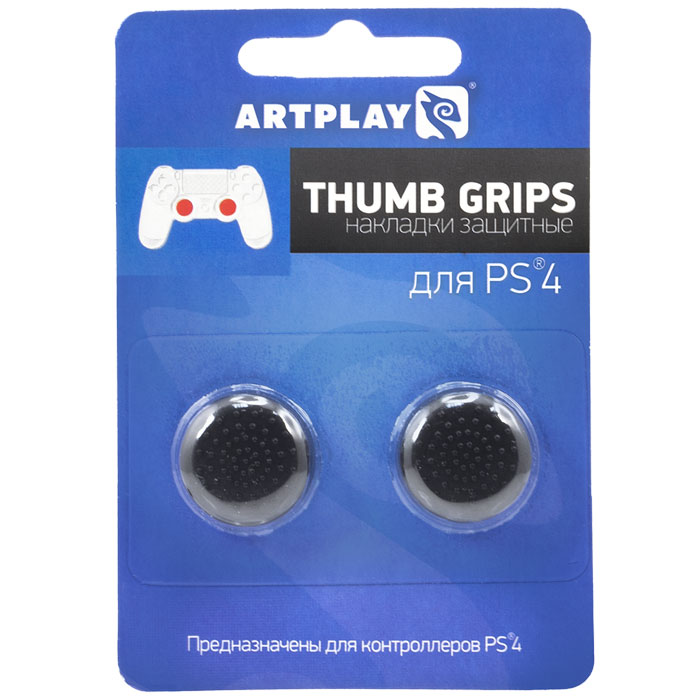 Artplays Thumb Gripsзащитные накладки на джойстики для PS4, Black (2 шт. ) Artplays
