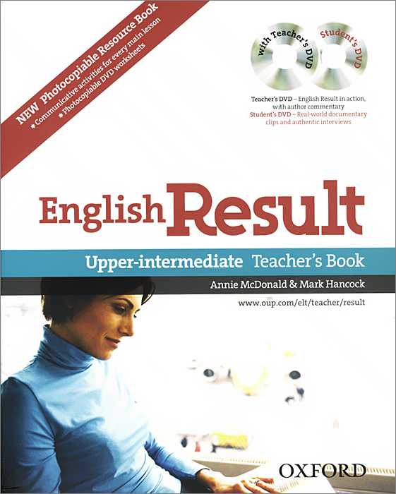 English Result: Upper-intermediate: Teacher's and Photocopiable Resource Book (+ 2 DVD-ROM) outcomes intermediate student s book