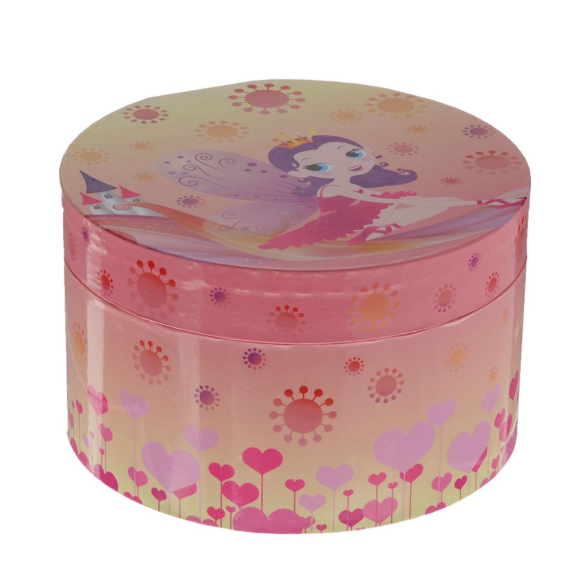 Музыкальная шкатулка Jakos Принцесса, цвет: розовый, желтый музыкальная шкатулка jakos в форме сердечка 30000 30991