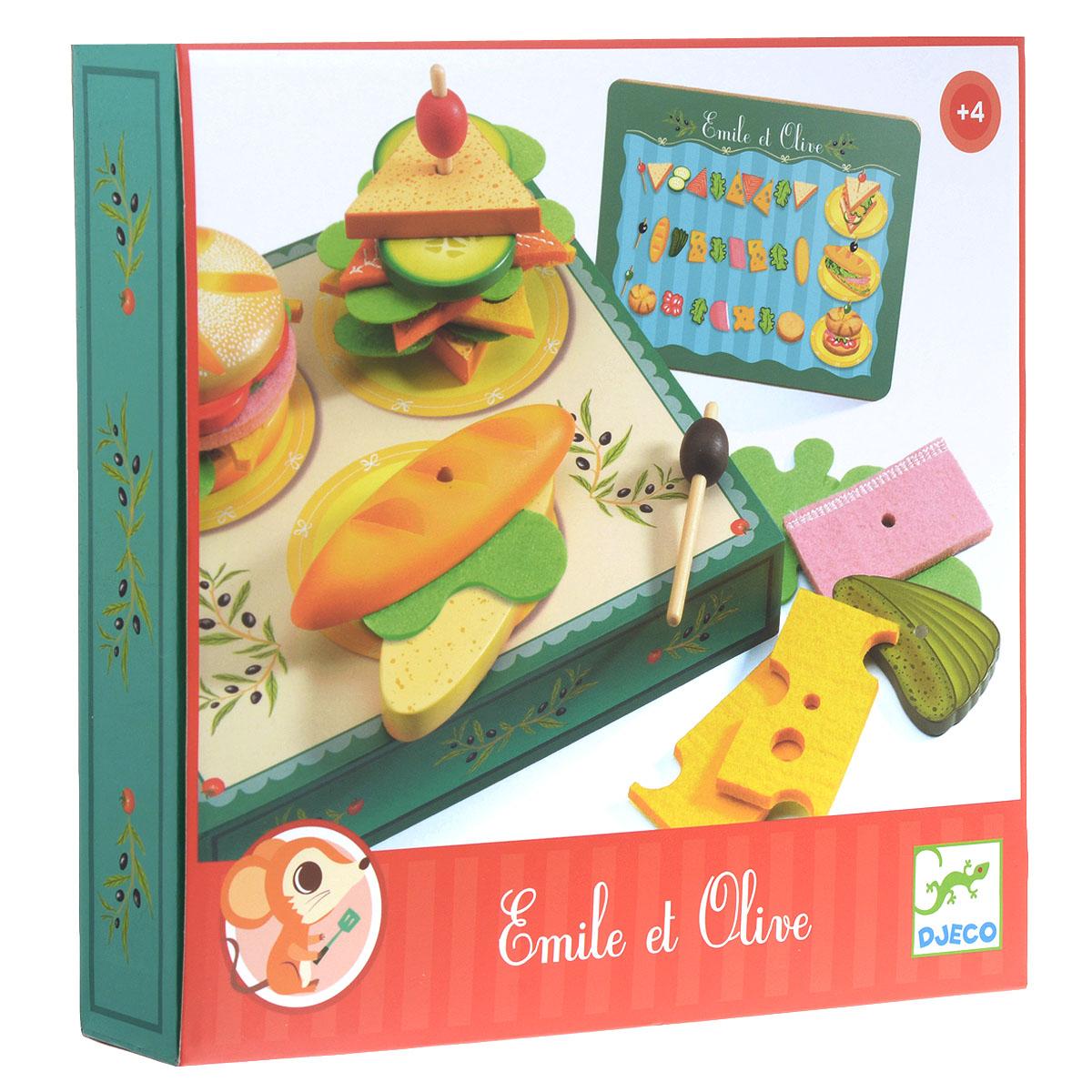цена на Djeco Игровой набор Сэндвичи от Эмиля и Олив