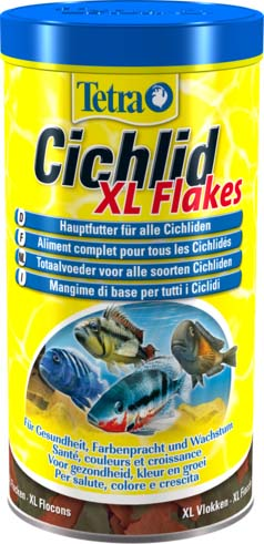 Корм Tetra Cichlid. XL Flakes для всех видов цихлид, крупные хлопья, 1 л (160 г)146549Корм Tetra Cichlid. XL Flakes - это биологически сбалансированный корм в виде крупных хлопьев, предназначенный для всех видов цихлид. Формула корма содержит все необходимые белки и специальные аминокислоты. Высокое содержание протеинов и растительных питательных веществ для удовлетворения особых потребностей цихлид, Запатентованная формула BioActive поддерживает здоровую иммунную систему рыб. Рекомендации по кормлению: кормите несколько раз в день маленькими порциями. Состав: рыба и побочные рыбные продукты, зерновые культуры, экстракты растительного белка, дрожжи, моллюски и раки, масла и жиры, сахар, водоросли. Аналитические компоненты:: сырой белок - 48%, сырые масла и жиры - 9%, сырая клетчатка - 2%, влага - 6%. Добавки: витамины, провитамины и химические вещества с аналогичным воздействием, витамин А 15250 МЕ/кг, витамин Д3 955 МЕ/кг. Красители, антиоксиданты. Товар сертифицирован.