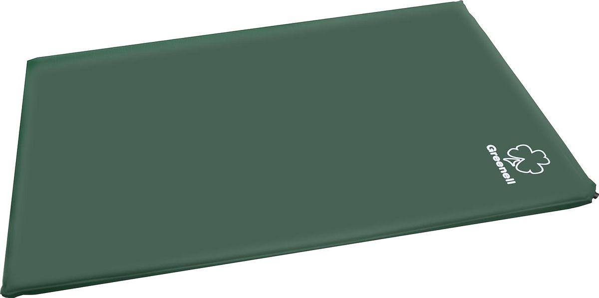 Коврик самонадувающий Greenell Комфорт Плюс, цвет: зеленый, 198 см х 130 см х 5 см