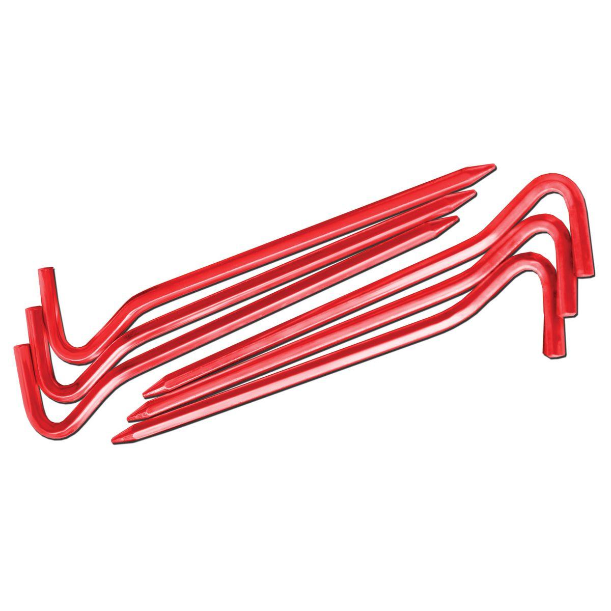 Комплект колышков шестигранных Nova Tour v2, цвет: красный металлик, 10 шт