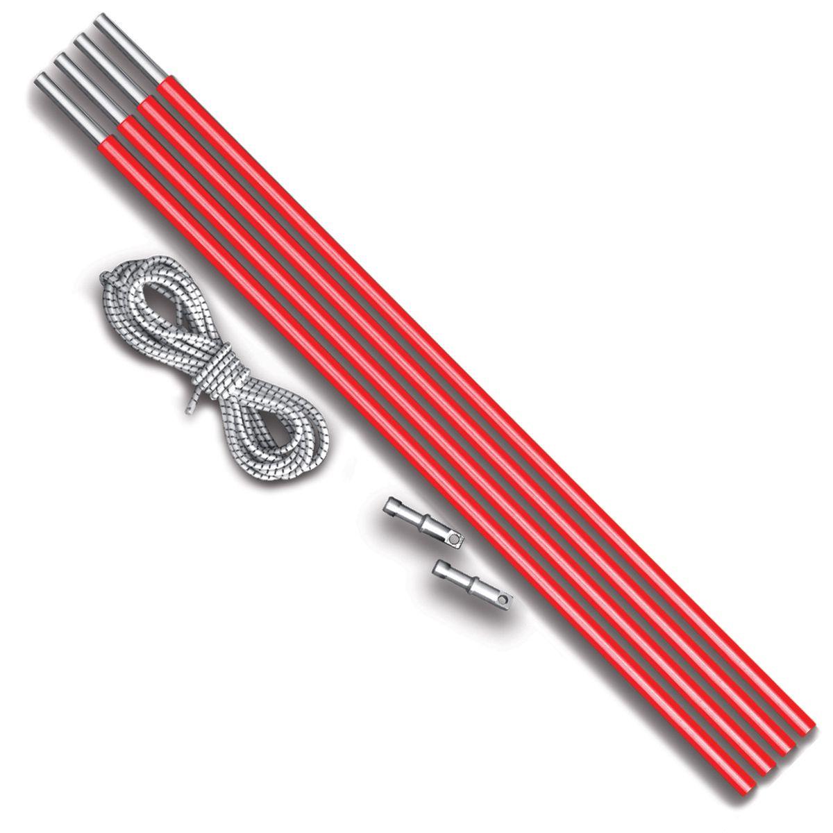 Комплект дуг алюминий Nova Tour v2, цвет: красный металлик, диаметр 8,5 мм