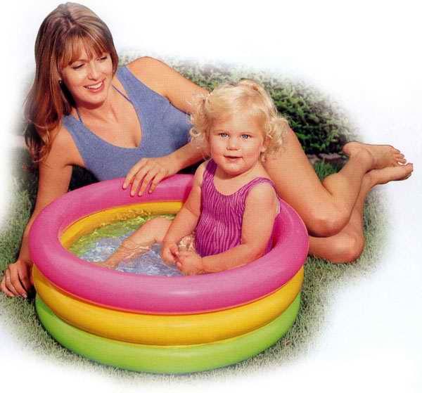 Бассейн надувной INTEX Sunset Glow Baby Pool 86х25см (до 3-х лет)