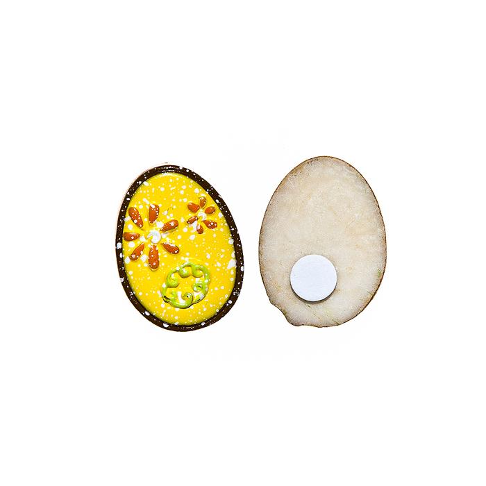 Фото - Набор декоративных украшений для яиц Home Queen Праздник, на клейкой основе, цвет: желтый, 6 шт набор переводных наклеек для яиц home queen пасха 6 шт