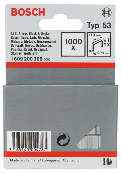 Скрепки для степлера Bosch 1000 14мм тип 53 1609200368 скрепки для степлера bosch 1000 14мм тип 53 1609200368
