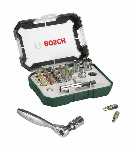 Набор бит-26 с ключом-трещеткой Bosch PROMOLINE 2607017322