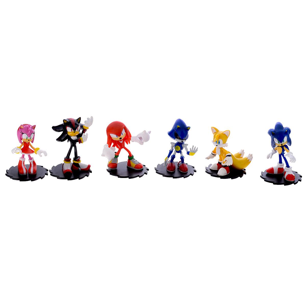 Набор фигурок Sonic Modern Collector's Set, 6 шт набор игрушек фигурок sonic соник модерн пэк