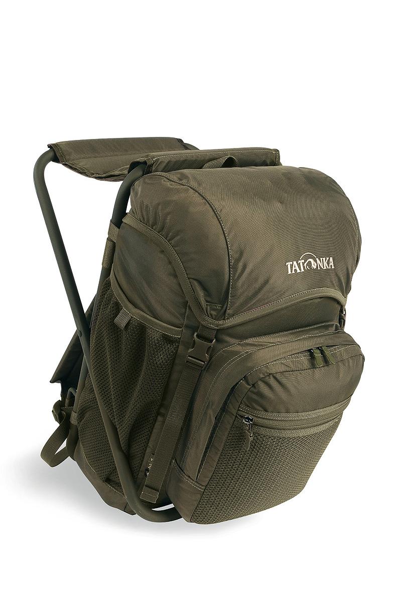 Стул-рюкзак Tatonka Fischerstuhl, цвет: темно-зеленый, 20 л