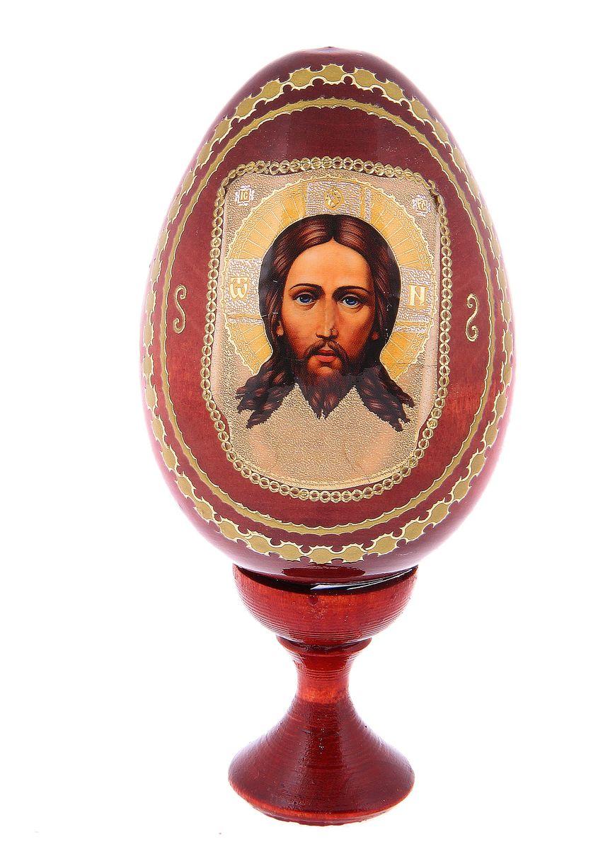 Яйцо декоративное Sima-land Спас Нерукотворный, на подставке, высота 13 см фоторамка sima land экспрессия 9 х 13 см