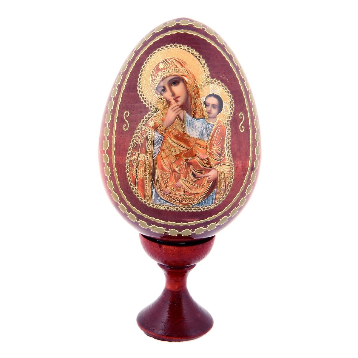 Яйцо декоративное Sima-land Отрада и утешение, на подставке, высота 13 см яйцо шкатулка sima land гжель высота 15 см