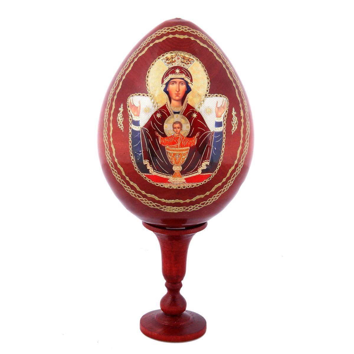 Яйцо декоративное Sima-land Неупиваемая чаша, на подставке, высота 21 см яйцо декоративное sima land семистрельная на подставке высота 12 5 см