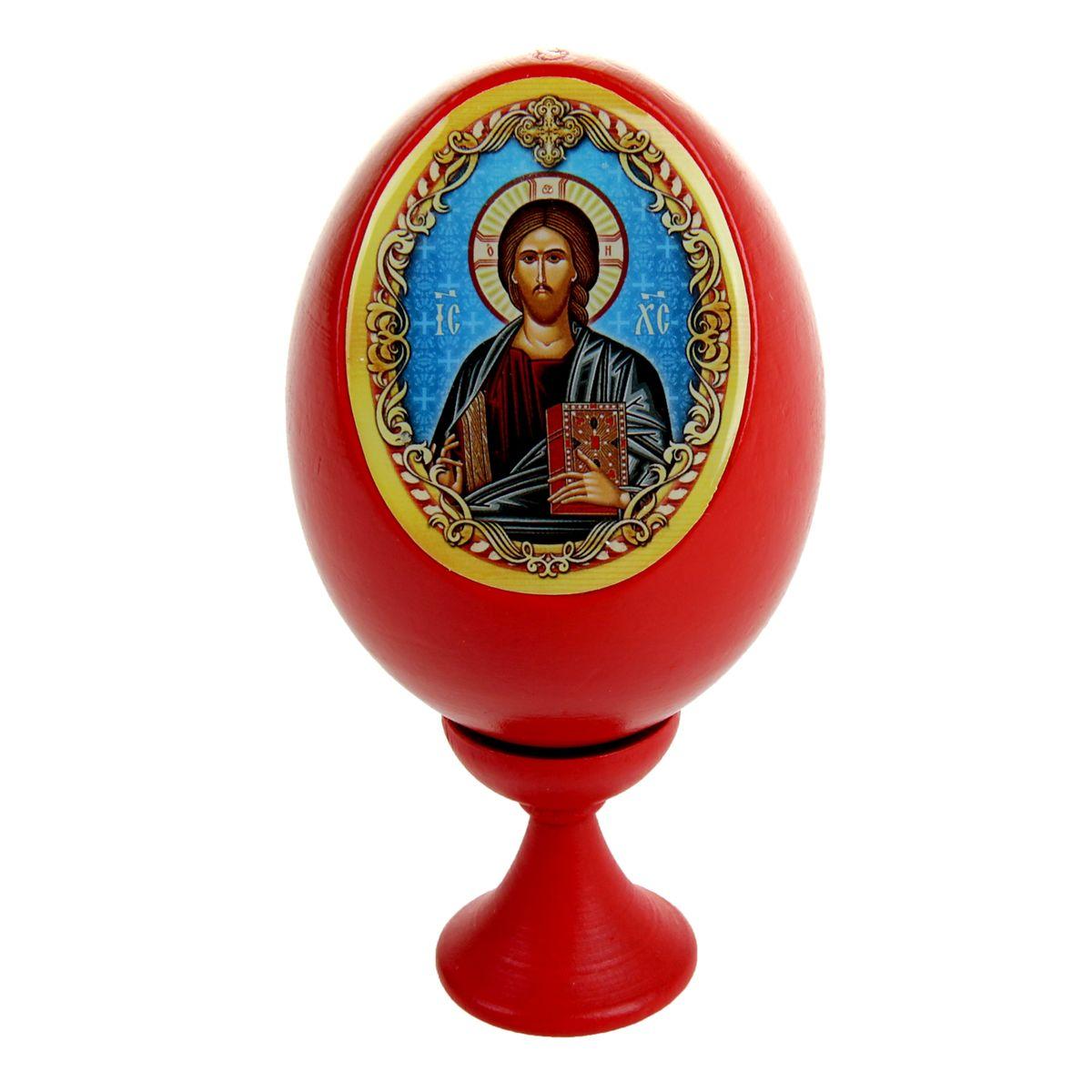 Яйцо декоративное Sima-land Господь Вседержитель, на подставке, высота 11 см яйцо декоративное sima land христос воскресший на подставке высота 11 см