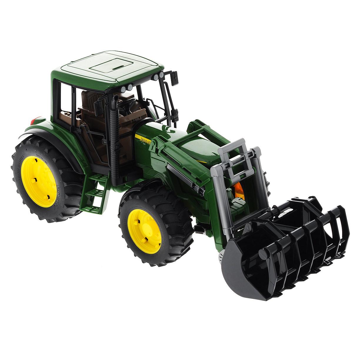 Bruder Трактор-погрузчик John Deere цена