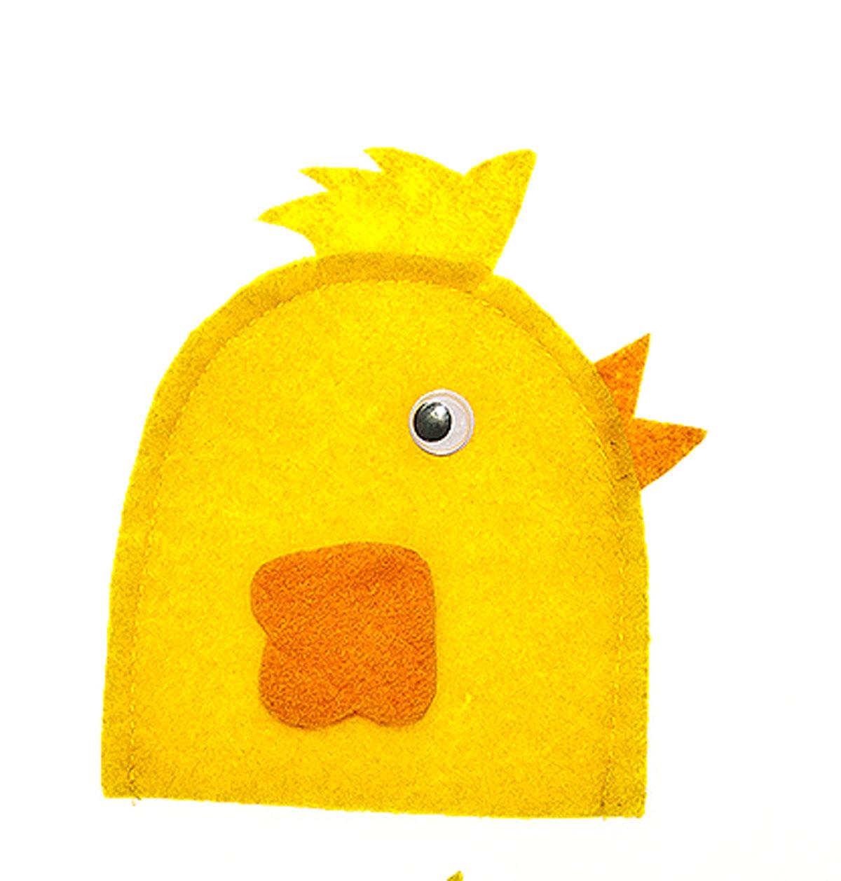 Грелка для яйца Home Queen Цыпленок в профиль, цвет: желтый, 10 см х 10 см64520_5Грелка для яйца Home Queen Цыпленок в профиль изготовлена из фетра. Изделие выполнено в виде цыпленка в профиль. Мягкая и приятная на ощупь, грелка внесет частичку тепла и веселья в ваш дом, а также станет замечательным подарком для друзей и близких. Размер: 10 см х 10 см.
