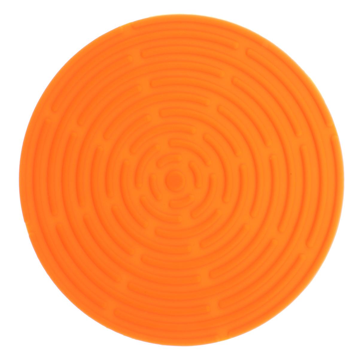 """Подставка под горячее """"Atlantis"""", цвет: оранжевый, диаметр 15 см. SC-MT-010-O"""