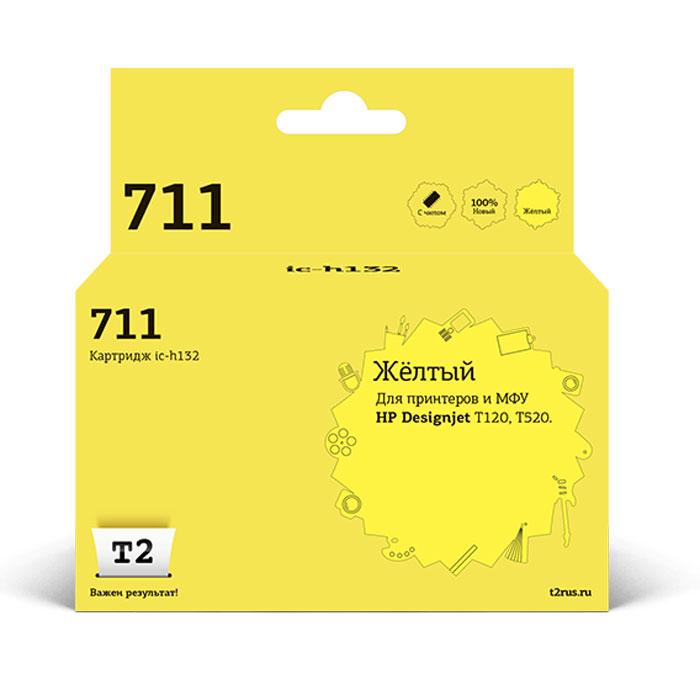 чернильный картридж hp 831c black cz694a Картридж T2 IC-H132, желтый, для струйного принтера