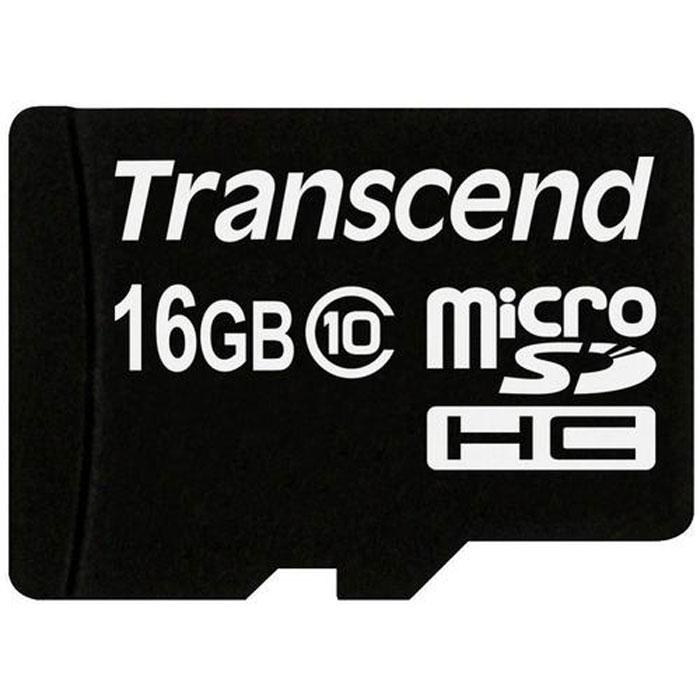 Transcend microSDHC Class 10 16GB карта памяти (TS16GUSDC10) карта памяти perfeo microsdhc cl 10 8 гб