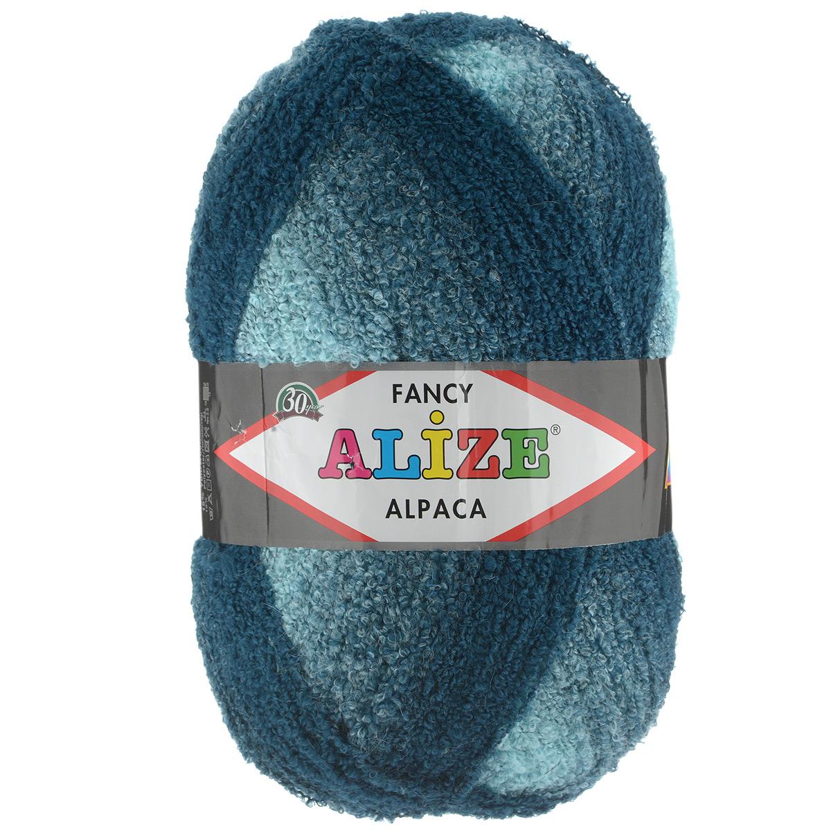 пряжа для вязания Alize Rainbow Alpaca Fancy цвет бирюзовый