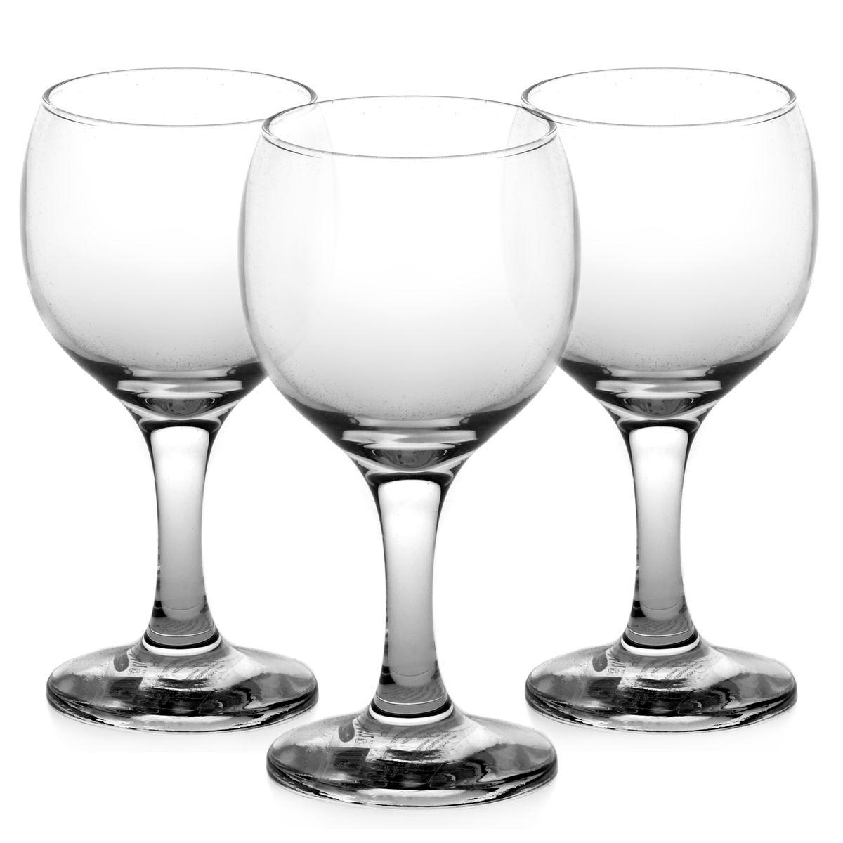 Фото - Набор бокалов для белого вина Pasabahce Bistro, 175 мл, 3 шт набор бокалов для мартини pasabahce bistro 170 мл