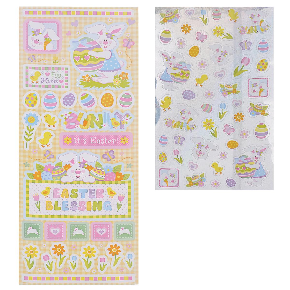 Фото - Набор декоративных наклеек Home Queen Кролики, в ассортименте, 80 шт набор переводных наклеек для яиц home queen пасха 6 шт