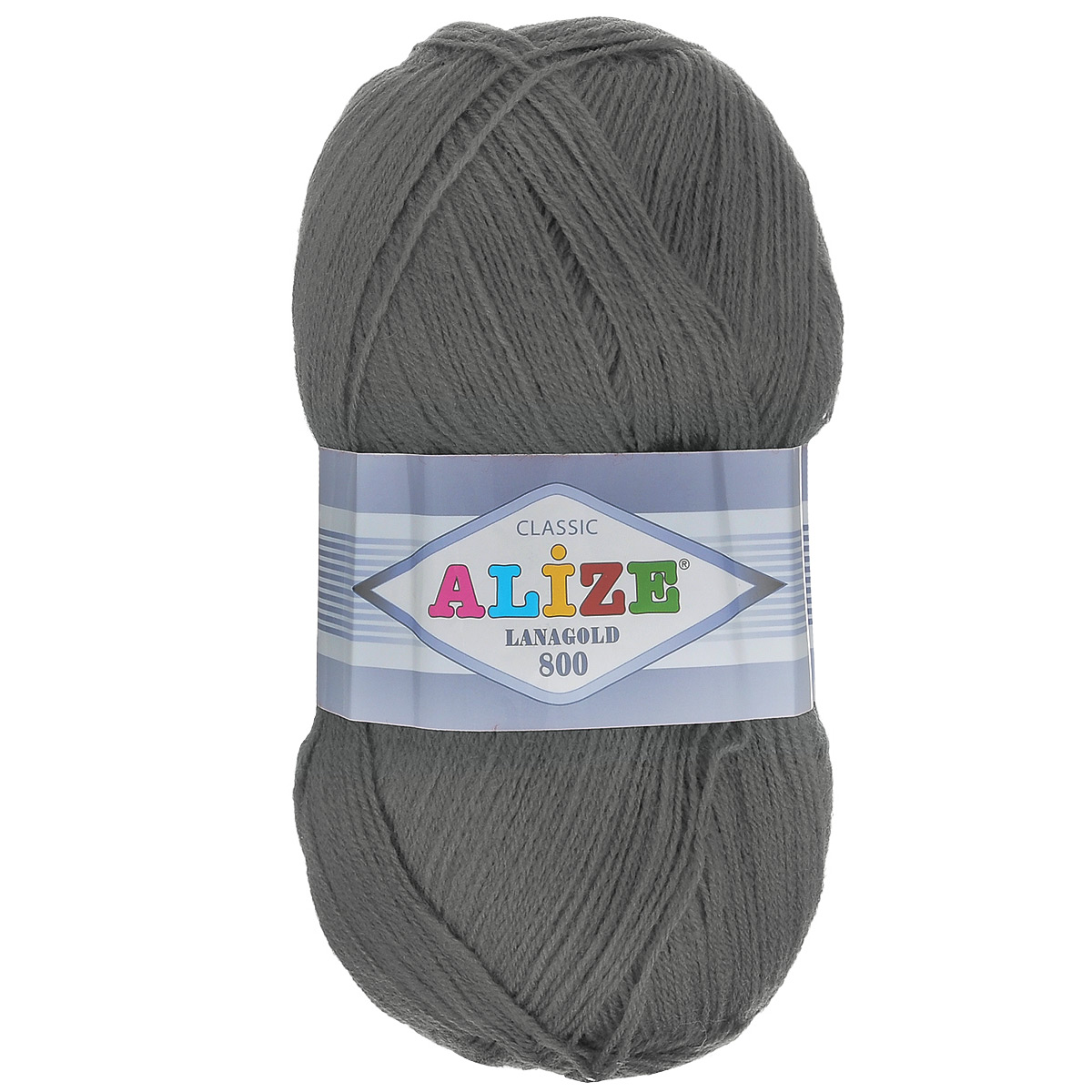 """Пряжа для вязания Alize """"Lanagold 800"""", цвет: темно-серый меланж (182), 800 м, 100 г, 5 шт"""