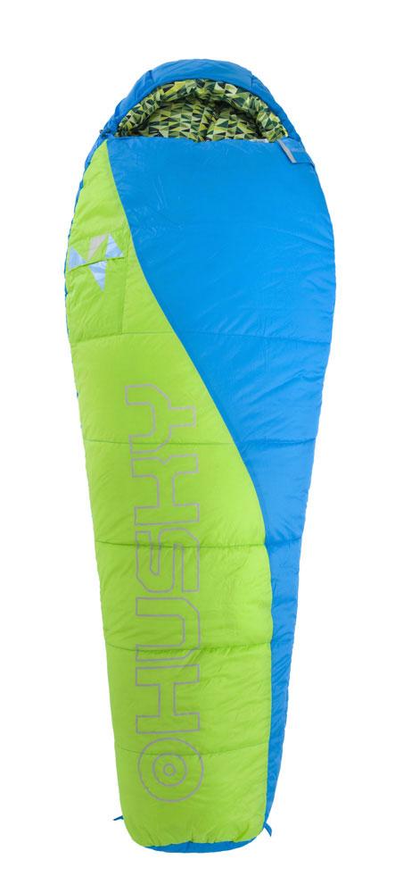 Спальный мешок Husky Kids Green, правосторонняя молния, цвет: синий, зеленый