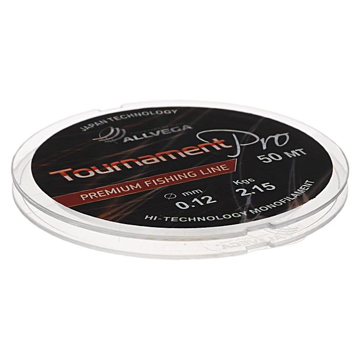 Леска Allvega Tournament Pro, цвет: прозрачный, 50 м, 0,12 мм, 2,15 кг