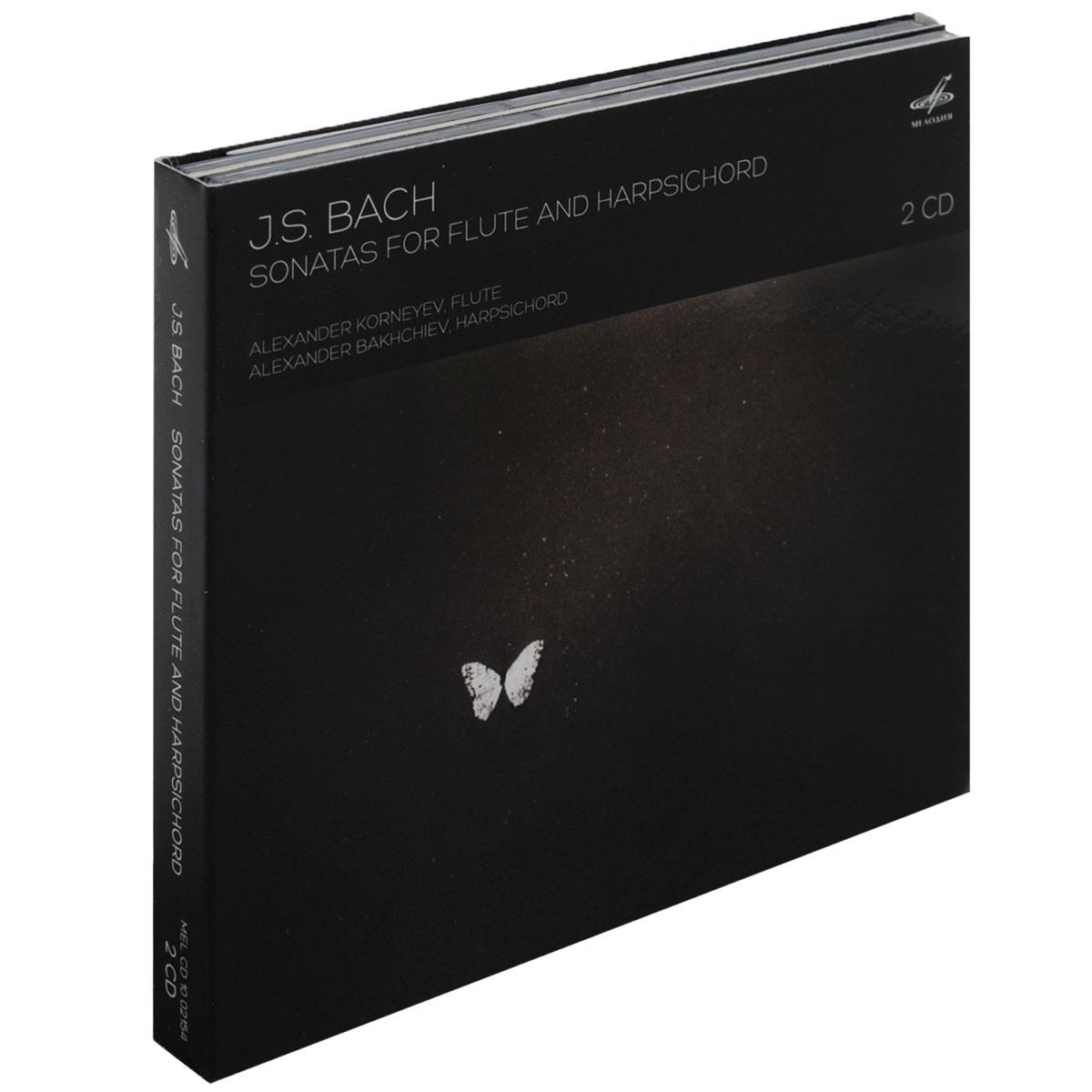 J. S. Bach. Sonatas For Flute And Harpsichord (2 CD) w middelschulte konzert uber ein thema von j s bach