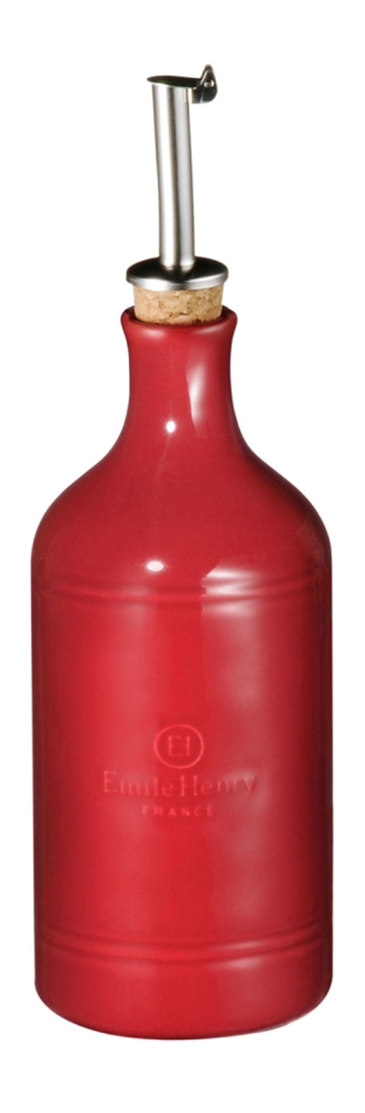"""Бутылка для масла и уксуса Emile Henry """"Natural Chic"""", цвет: гранат, 450 мл"""