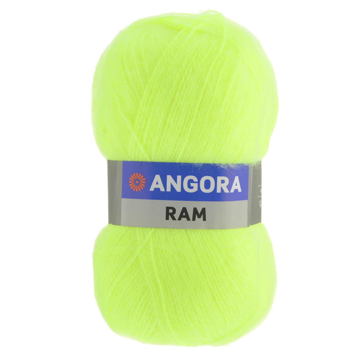 пряжа для вязания Yarnart Angora Ram цвет ярко салатовый 8232
