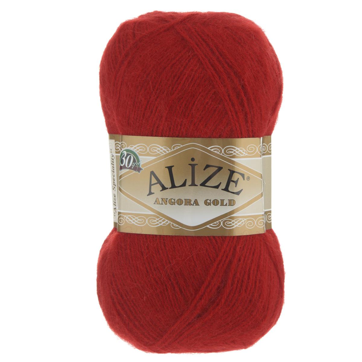 """Пряжа для вязания Alize """"Angora Gold"""", цвет: красный (106), 550 м, 100 г, 5 шт"""