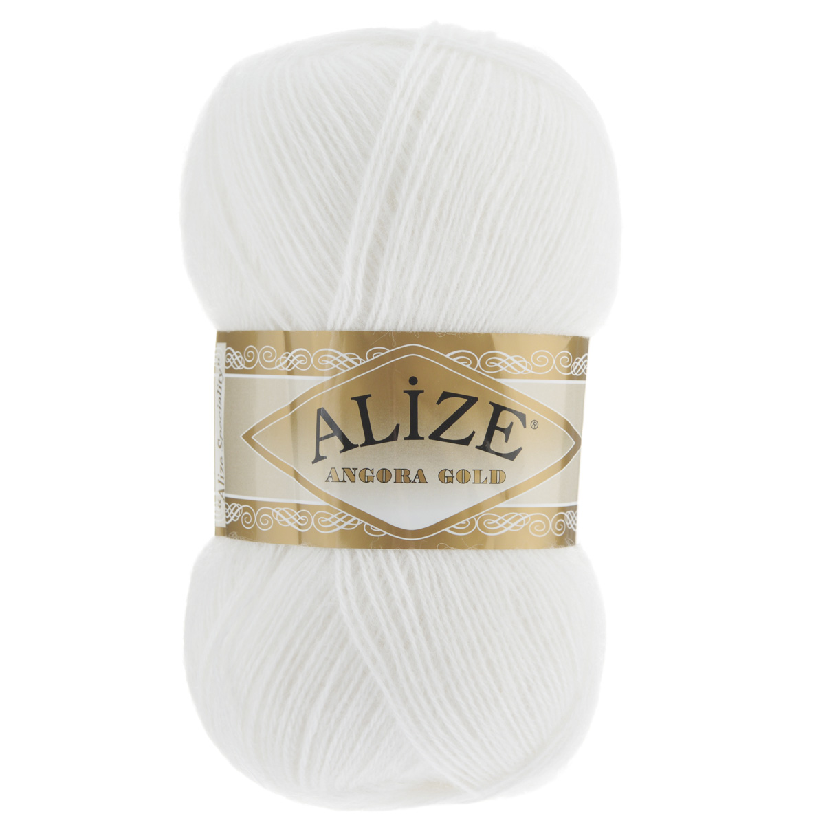 "Пряжа для вязания Alize ""Angora Gold"", цвет: белый (55), 550 м, 100 г, 5 шт"