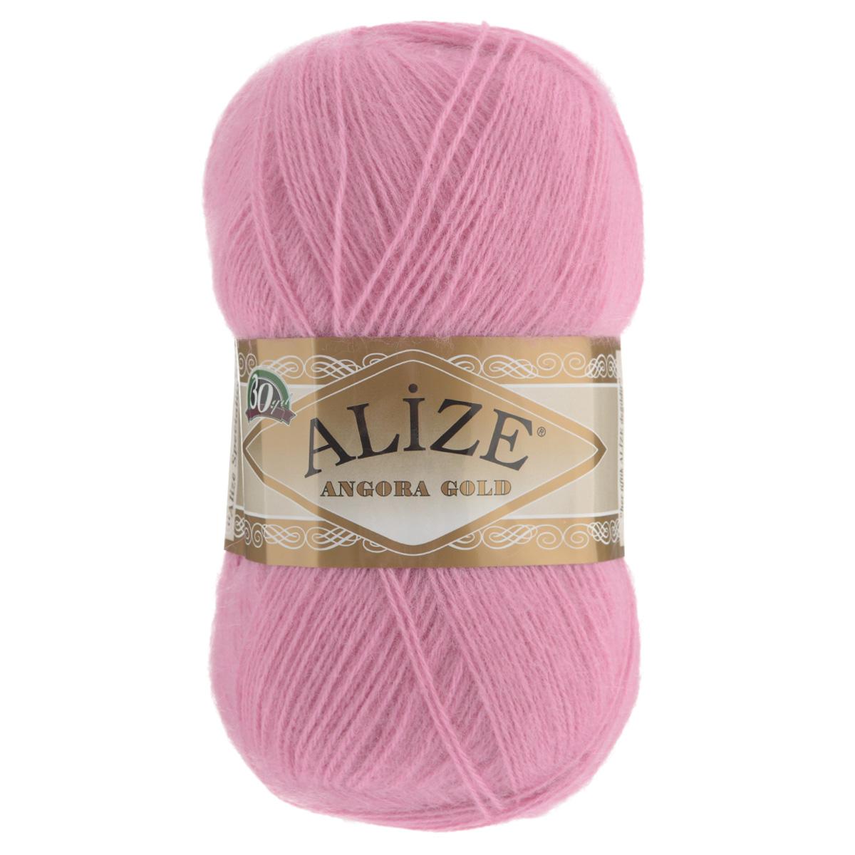 """Пряжа для вязания Alize """"Angora Gold"""", цвет: розовый (39), 550 м, 100 г, 5 шт"""