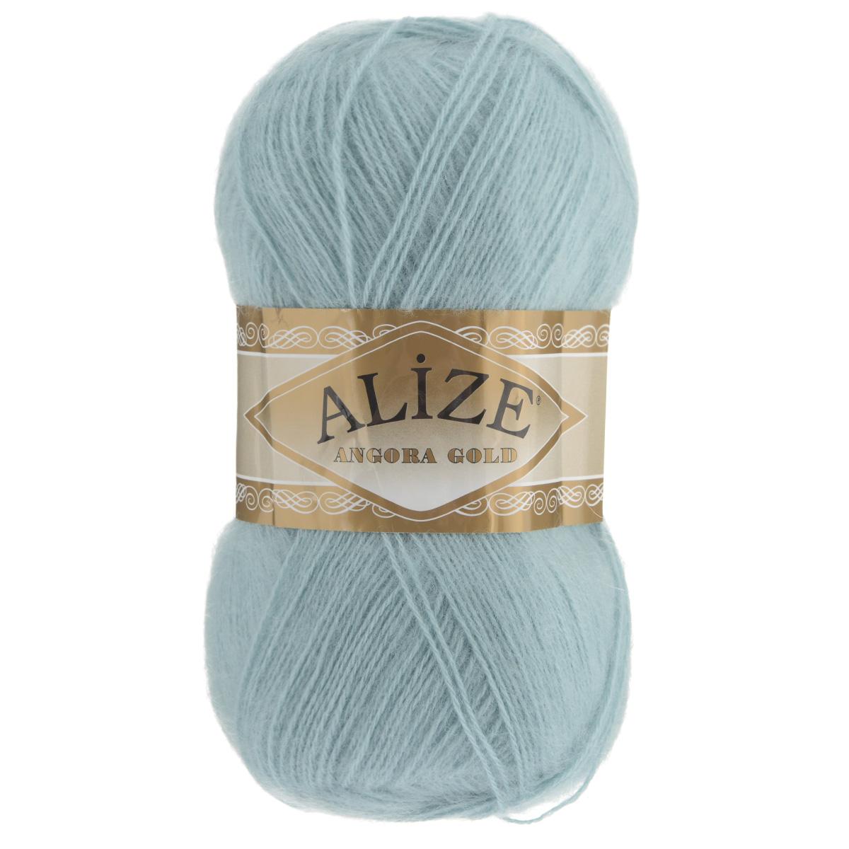 """Пряжа для вязания Alize """"Angora Gold"""", цвет: голубой (114), 550 м, 100 г, 5 шт"""
