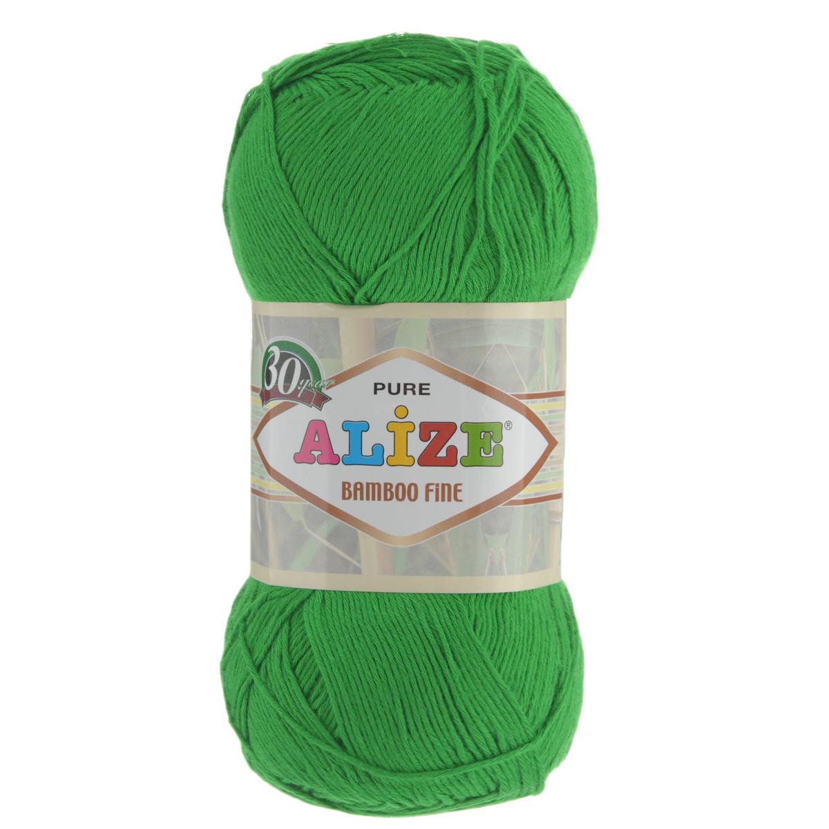 Пряжа для вязания Alize Bamboo Fine, цвет: травяной (562), 440 м, 100 г, 5 шт688988_562Пряжа Alize Bamboo Fine подходит для ручного вязания детям и взрослым. Пряжа однотонная, приятная на ощупь, хорошо лежит в полотне. Изделия из такой нити получаются мягкие и красивые. Рекомендованные спицы 2,5-3,5 мм и крючок для вязания 1-3 мм. Состав: 100% бамбук.